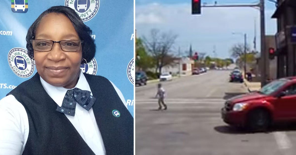 bus driver saves boy.jpg?resize=1200,630 - Female Bus Driver Risked Her Own Life To Save A Boy With Autism At A Busy Intersection