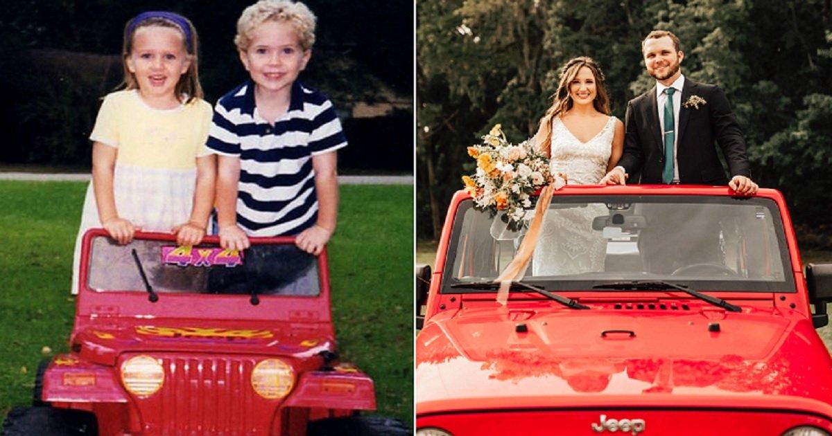 c4.jpg?resize=1200,630 - Amoureux depuis le plus jeune âge avant d'être séparés, ils se sont retrouvés 12 ans plus tard pour se marier