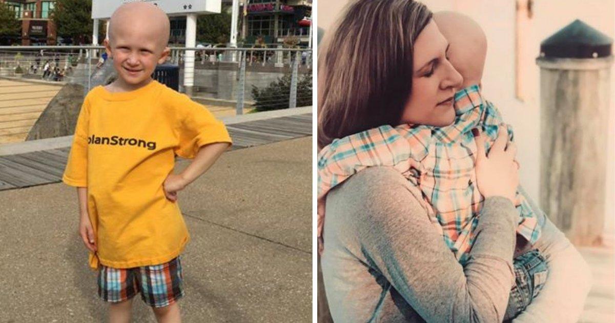 d1 9.png?resize=412,232 - Un enfant de 4 ans souffrant du cancer se lève, quelques minutes avant sa mort, pour dire à sa mère 'je t'aime'