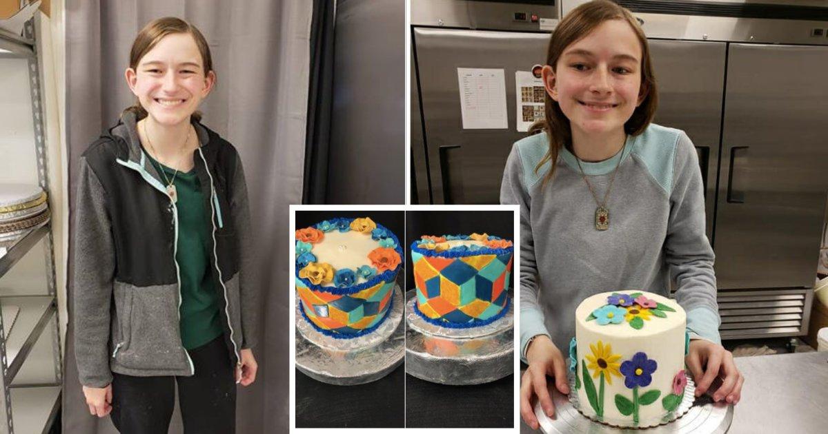 d3 11.png?resize=412,232 - Une adolescente aveugle excelle dans la décoration de gâteaux et cela va vous étonner