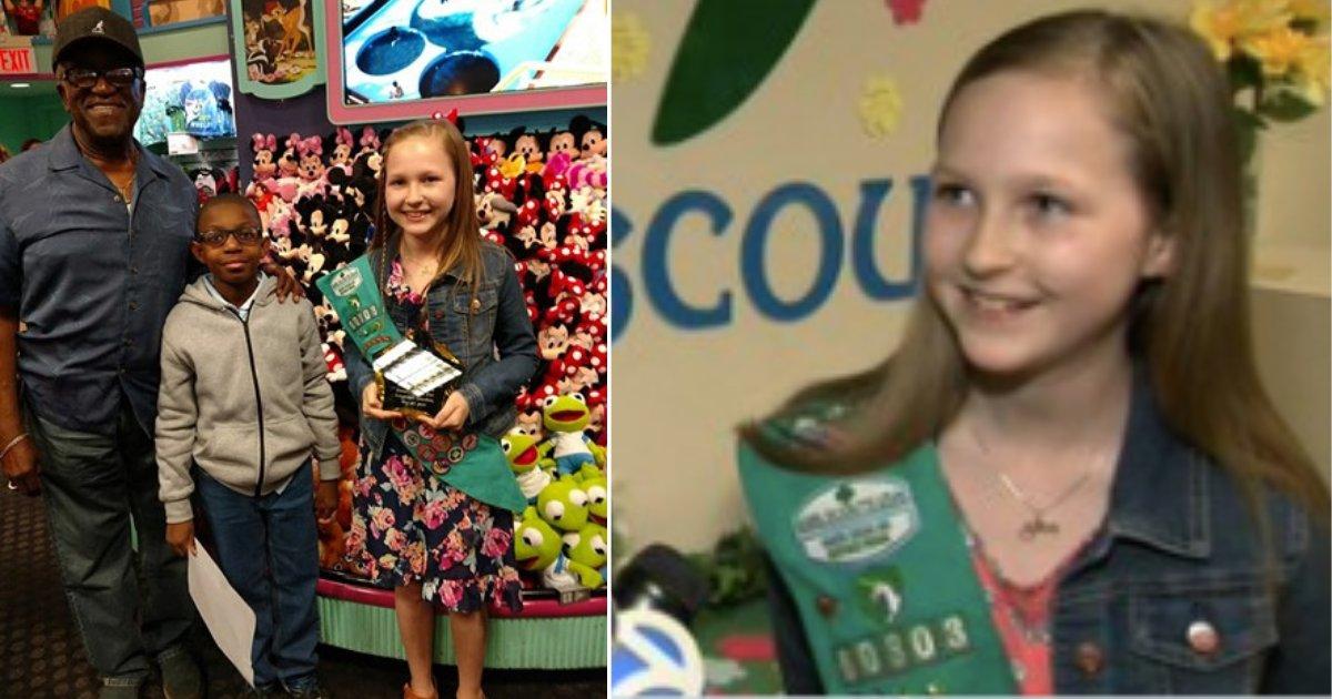 d4 14.png?resize=412,232 - Une éclaireuse vend 5 000 boîtes de biscuits pour pouvoir payer un voyage à Disney World à son amie