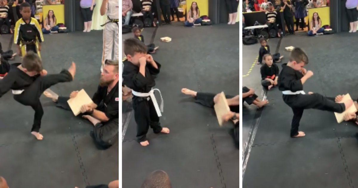 d6 1.png?resize=1200,630 - Ce petit garçon en pleurs réussit finalement son exercice d'arts martiaux grâce au soutien indéfectible de ses camarades