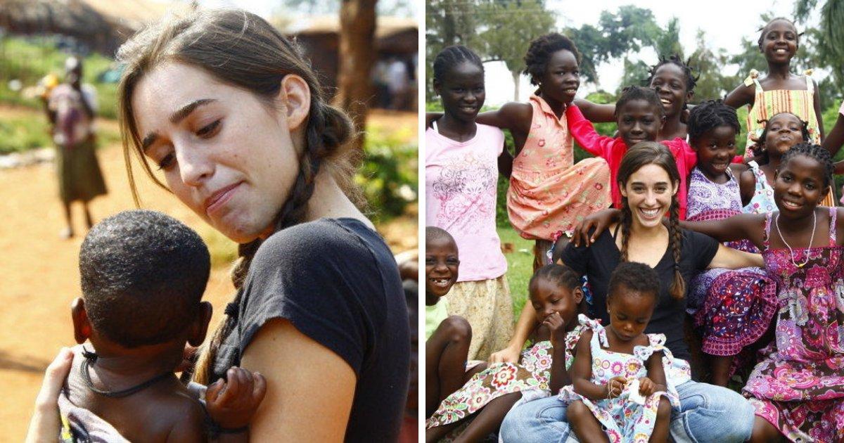 davis5.png?resize=1200,630 - Young Woman Decided To Adopt 13 Abandoned Ugandan Girls