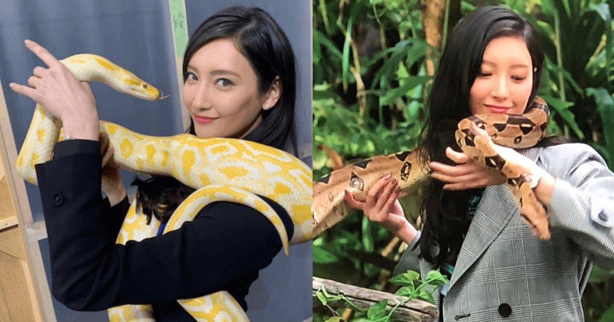 e696b0e5bbbae9a1b9e79bae 33.png?resize=1200,630 - 菜々緒、本物のヘビを体に巻きつけて笑顔を見せる姿…「リアルなハンコック!蛇姫様ぁ」