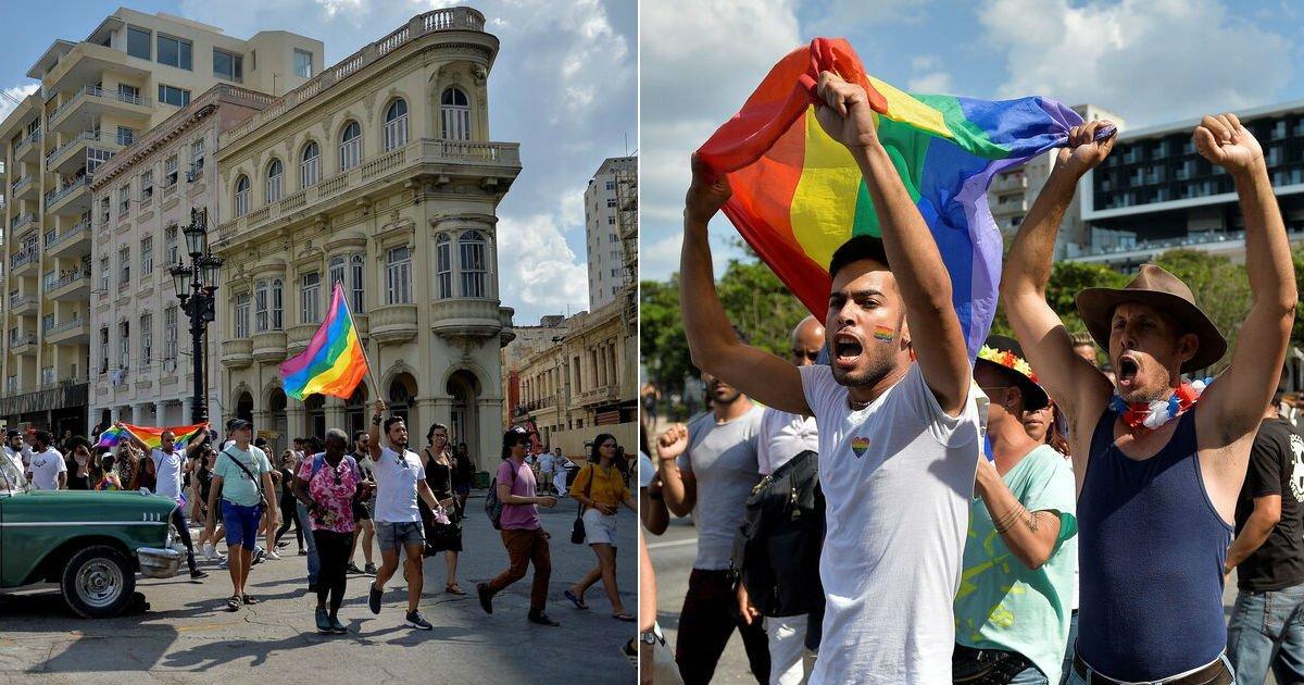 ecbda9.jpg?resize=412,232 - 정부의 '금지'에도 불구하고 '게이 퍼레이드(Pride Parade)' 열린 쿠바
