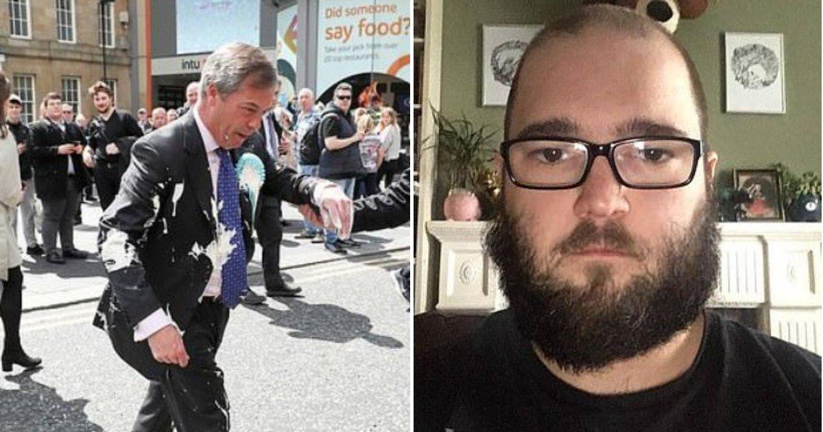 farage4.png?resize=412,232 - Un homme a été accusé d'agression et de dommages criminels après avoir lancé un milkshake sur le chef du parti du Brexit, Nigel Farage