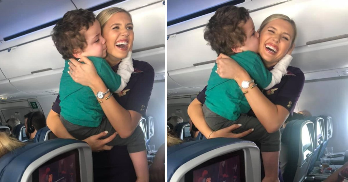 featured image 24.png?resize=412,232 - Kind-Hearted Flight Attendant Soothed A Little Boy With Autism During His Sudden 'Meltdown' On Plane