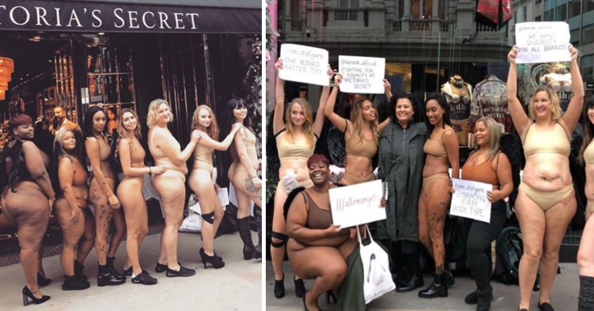 featured image 25.png?resize=412,232 - Protesters Stripped Down To Underwear Outside Victoria's Secret Store In London