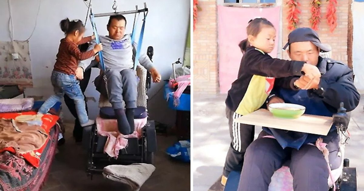 featured image 4.png?resize=1200,630 - Une fille de six ans contrainte de s'occuper de son père handicapé SEULE après que sa mère ait abandonné sa famille