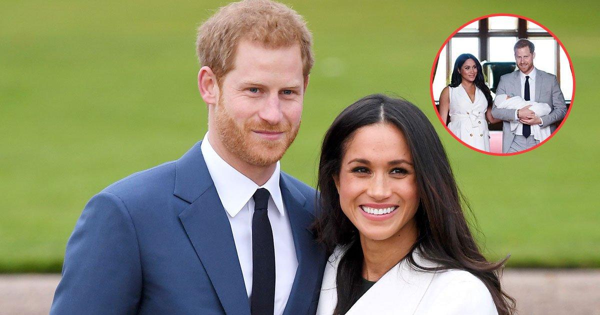 harry meghan archie pictures.jpg?resize=366,290 - Le duc et la duchesse de Sussex publient les premières photos de leur nouveau-né: Archie Harrison Mountbatten-Windsor
