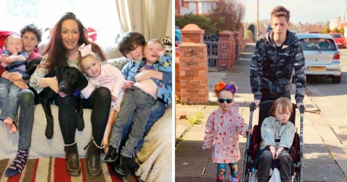 harry7.png?resize=412,232 - Une mère célibataire de 7 enfants raconte comment son fils adolescent prend soin de ses jumeaux handicapés depuis que son mari les a quittés