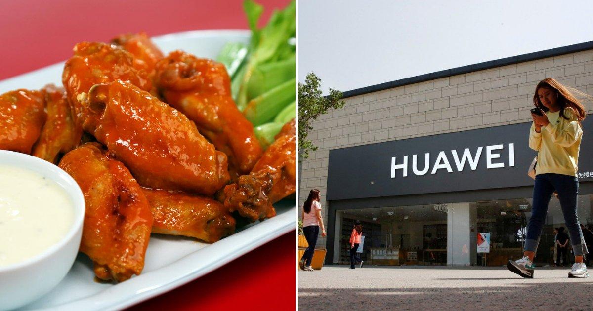 huawei4.png?resize=412,232 - Un restaurant propose des ailes de poulet gratuites aux utilisateurs de Huawei après l'interdiction américaine du géant de la technologie