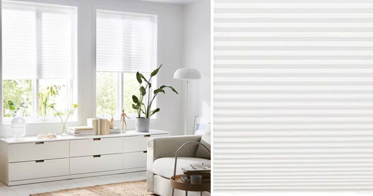 ikea blinds.jpg?resize=1200,630 - Ikea vend des stores plissés pour 3 € pouvant s'adapter à toutes les fenêtres et ne nécessitant pas de perceuse