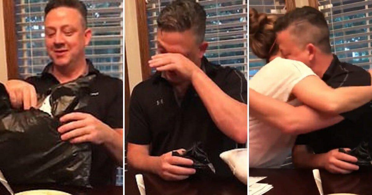 jason3.png?resize=412,232 - Un homme en plein deuil de son chien s'effondre en larmes quand sa femme lui remet un cadeau spécial