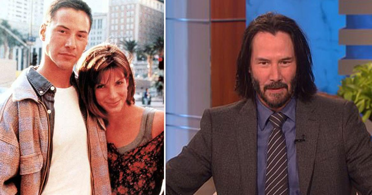 keanu reevs ellen show sandra bullock.jpg?resize=412,232 - Keanu Reeves Confessed He Had A Crush On Co-Star Sandra Bullock On The Ellen DeGeneres Show