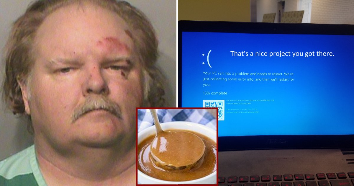 laptop.png?resize=412,232 - Man Spilled Gravy On His Laptop Keyboard, Took It To Store And Suddenly Got Arrested