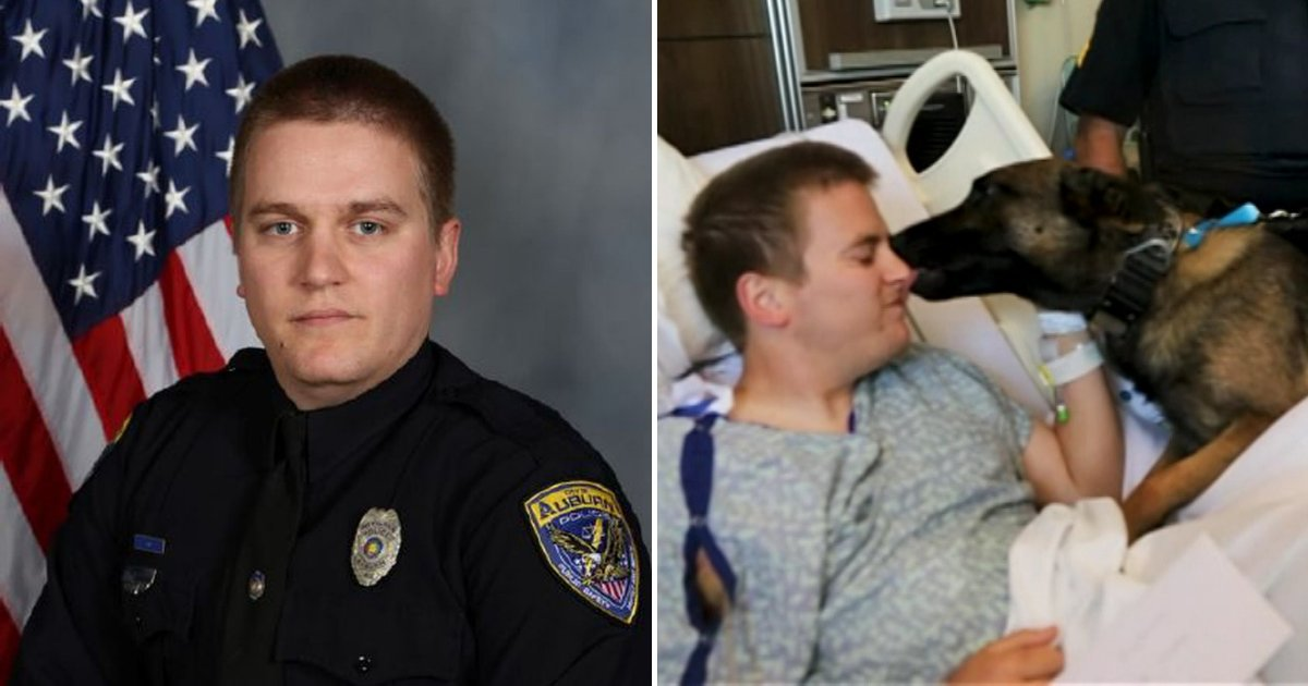 leon5.png?resize=1200,630 - Dog Visits Wounded Police Officer In Hospital After They Both Survive Shooting Incident