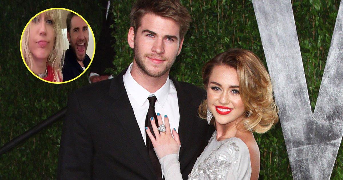 liam miley video.jpg?resize=1200,630 - Vidéo adorable de Liam Hemsworth agaçant Miley Cyrus en chantant la chanson de Miley 'Party In The USA'