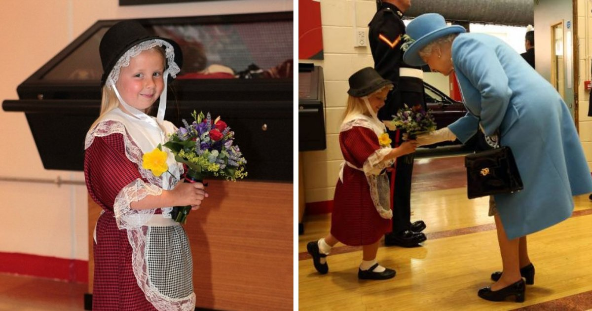 maisie5.png?resize=1200,630 - Little Girl Gets Whacked By Royal Guard After Greeting Queen With Curtsy