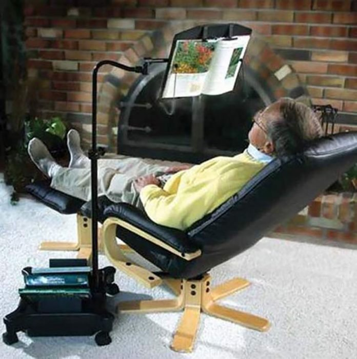 silla para leer sin levantar los brazos