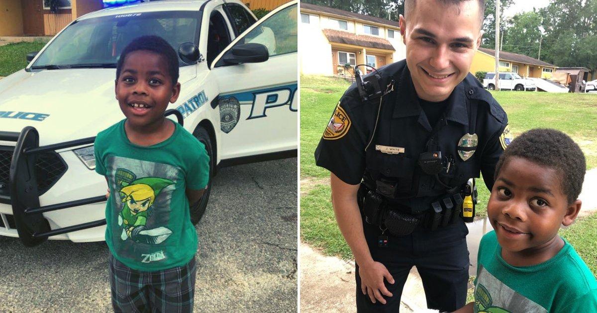 officer.png?resize=412,232 - Un garçon de 6 ans appelle les secours parce qu'il est seul et demande à l'agent de police d'être son ami