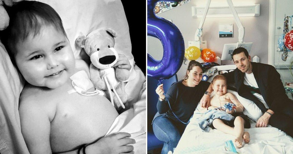oscar6.png?resize=412,232 - Un garçon de 5 ans a subi une transplantation qui lui a sauvé la vie après un record de 10 000 donneurs