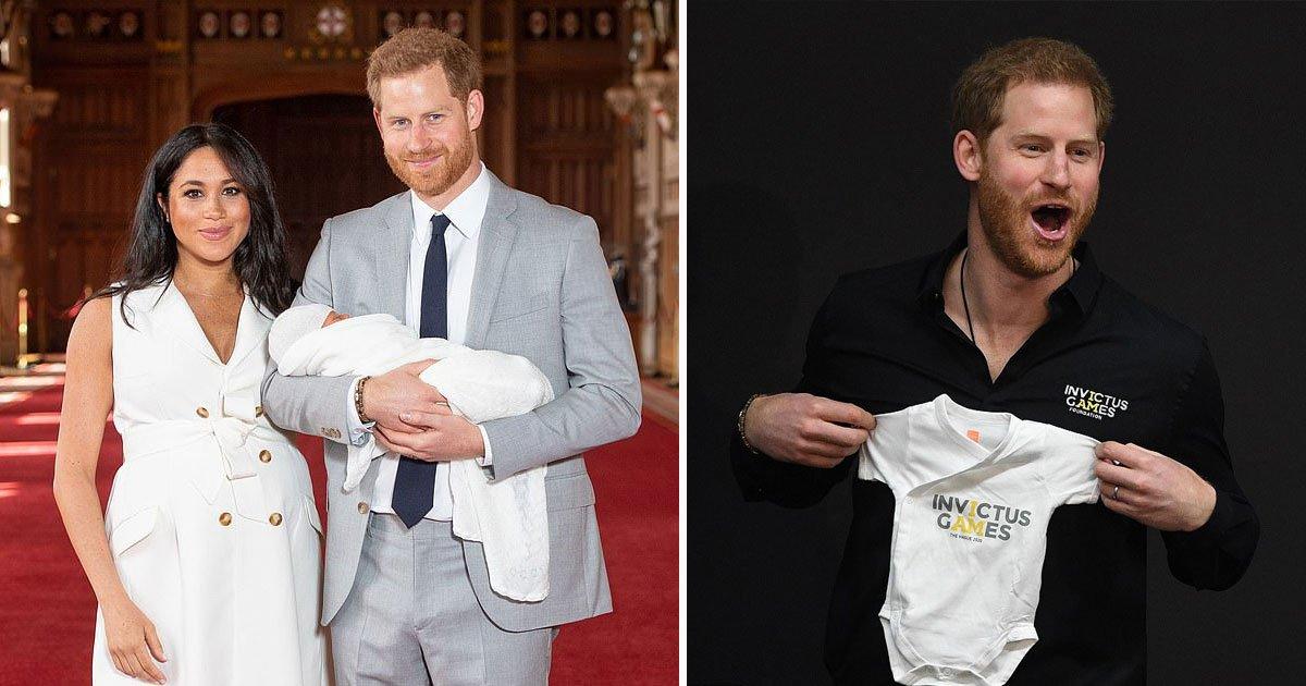 prince harry invictus games.jpg?resize=300,169 - Le prince Harry a reçu un hochet et une grenouillère pour son fils nouveau-né lors d'une visite à La Haye