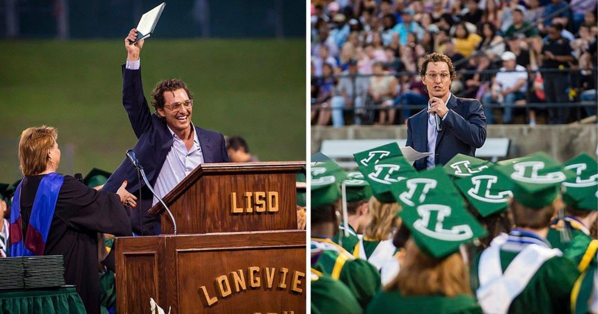 s4 11.png?resize=412,232 - Matthew McConaughey est retourné à son lycée 30 ans plus tard pour récupérer son diplôme