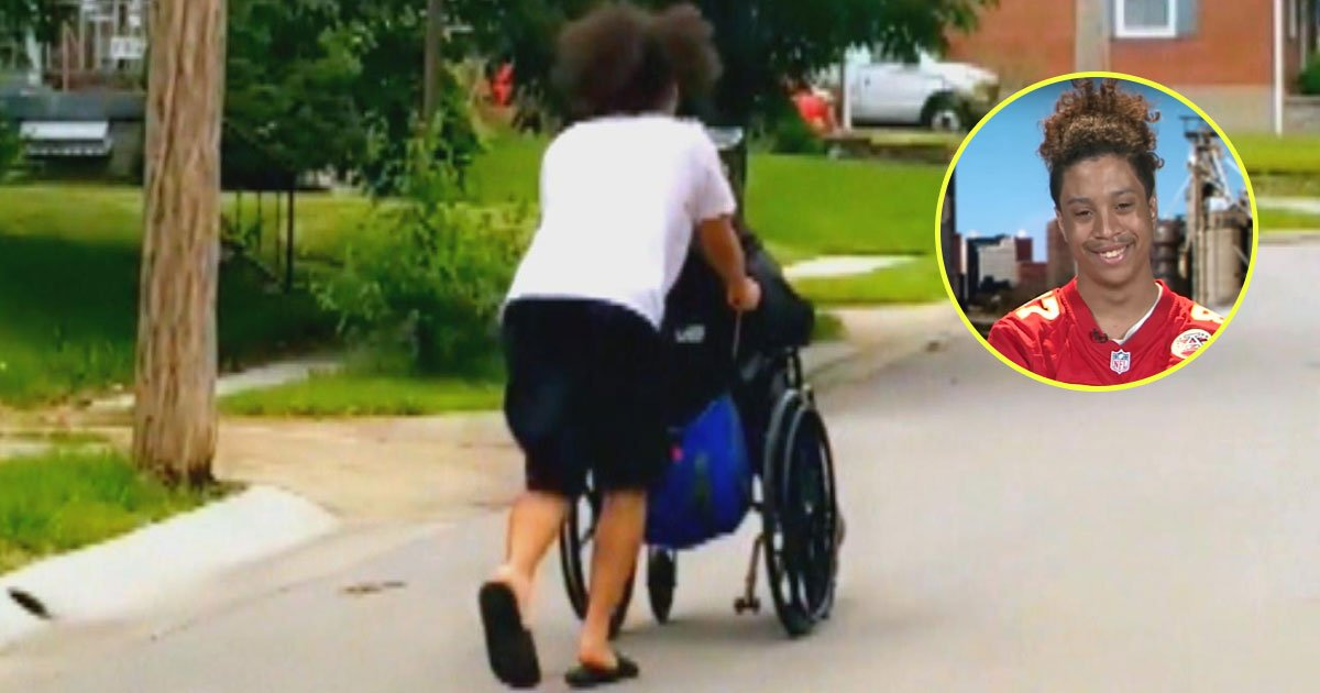 teenager helped wheelchair man tornado.jpg?resize=412,232 - Teenager Helped A Wheelchair-Bound Man To Safety After Tornado Sirens Went Off
