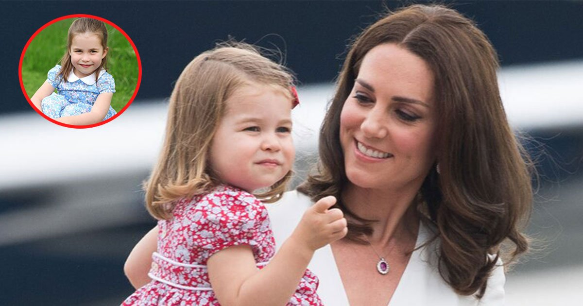 the duke and duchess of cambridge released beautiful portraits of princess charlotte on her fourth birthday.jpg?resize=1200,630 - Kate Dressed Princess Charlotte In A Similar Baby Blue Color Dresses To Avoid Causing A 'Fashion Frenzy' Over What The Baby Wore