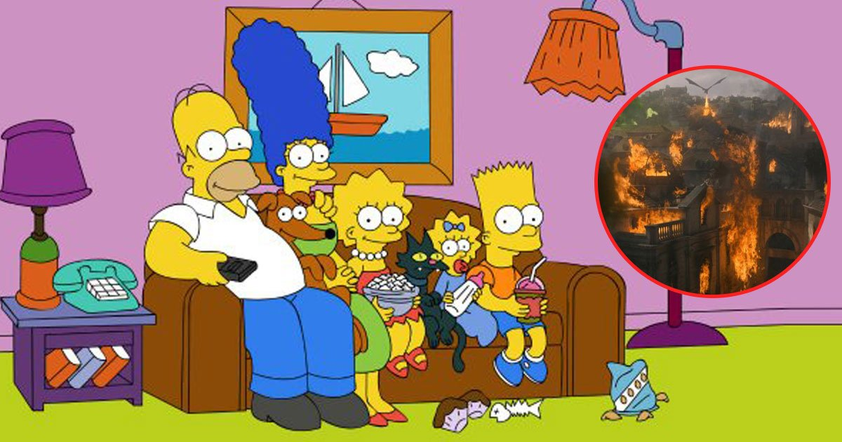 the simpsons game of thrones.jpg?resize=1200,630 - The Simpsons Gave Spoilers Of The Latest Episode Of Game Of Thrones Two Years Ago