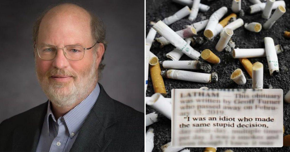 turner5.png?resize=1200,630 - Un fumeur qui est mort du cancer du poumon a changé son héritage après avoir écrit sa propre nécrologie dans le journal local...