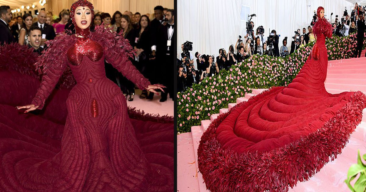 untitled 1 18.jpg?resize=1200,630 - Cardi B Should Get The Award For The Most Massive Train At The 2019 Met Gala