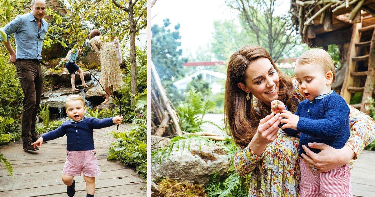 untitled 1 52.jpg?resize=300,169 - Le prince Louis marche! Le petit enfant d'un an a marché adorablement autour du jardin de Kate Middleton