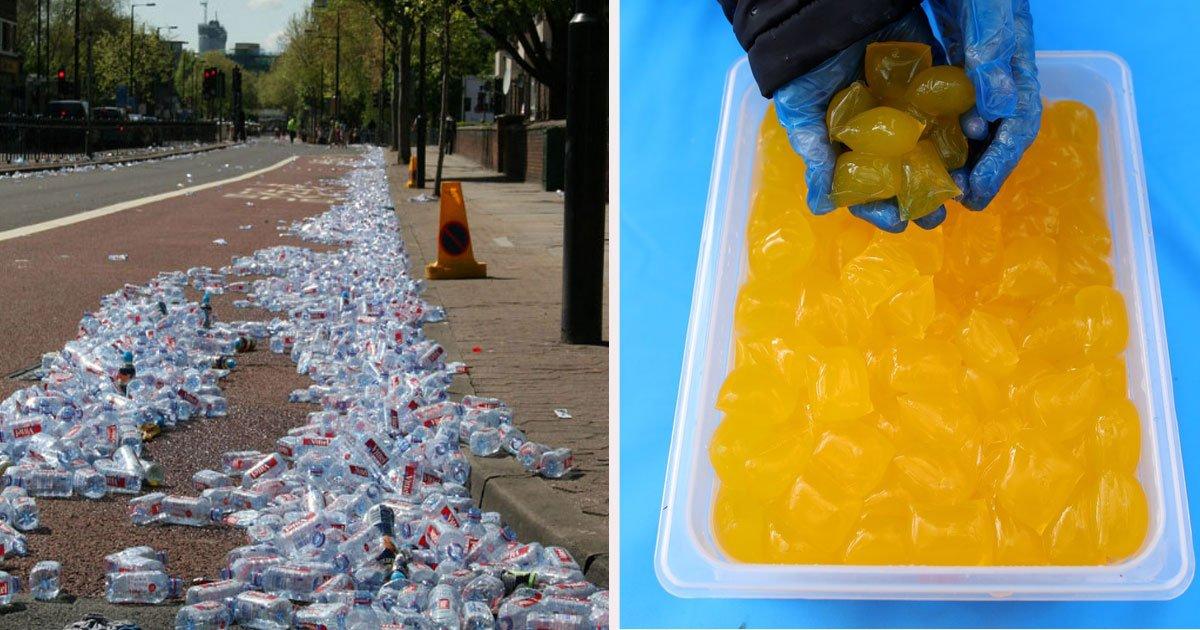 untitled 1 60.jpg?resize=412,232 - Des bouteilles en plastique remplacées lors du marathon de Londres par des poches d'eau comestibles