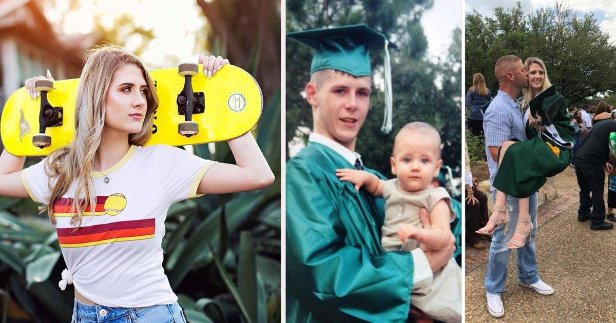 untitled 1 95.jpg?resize=412,232 - Un duo père-fille recréé une adorable photo de remise des diplômes le jour de sa remise des diplômes