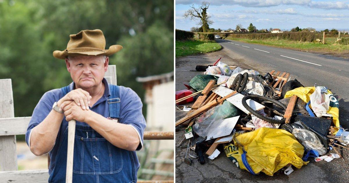 untitled design 11.png?resize=366,290 - Des fermiers furieux ont affronté des disséminateurs d'ordures et ont basculé leur fourgonnette avec un tracteur
