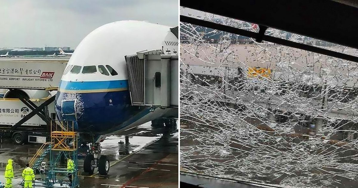 untitled design 35 1.png?resize=1200,630 - Pilot Forced To Make Emergency Landing After Hailstones Cracked Airbus Windscreen