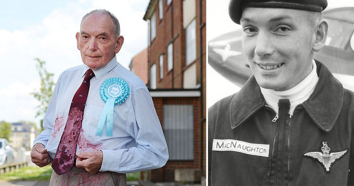 veteran doused in milkshake.jpg?resize=1200,630 - A Crowdfunding Page Was Set Up To Buy A New Suit For The Veteran Who Was Doused In Milkshake While Campaigning For The Brexit Party