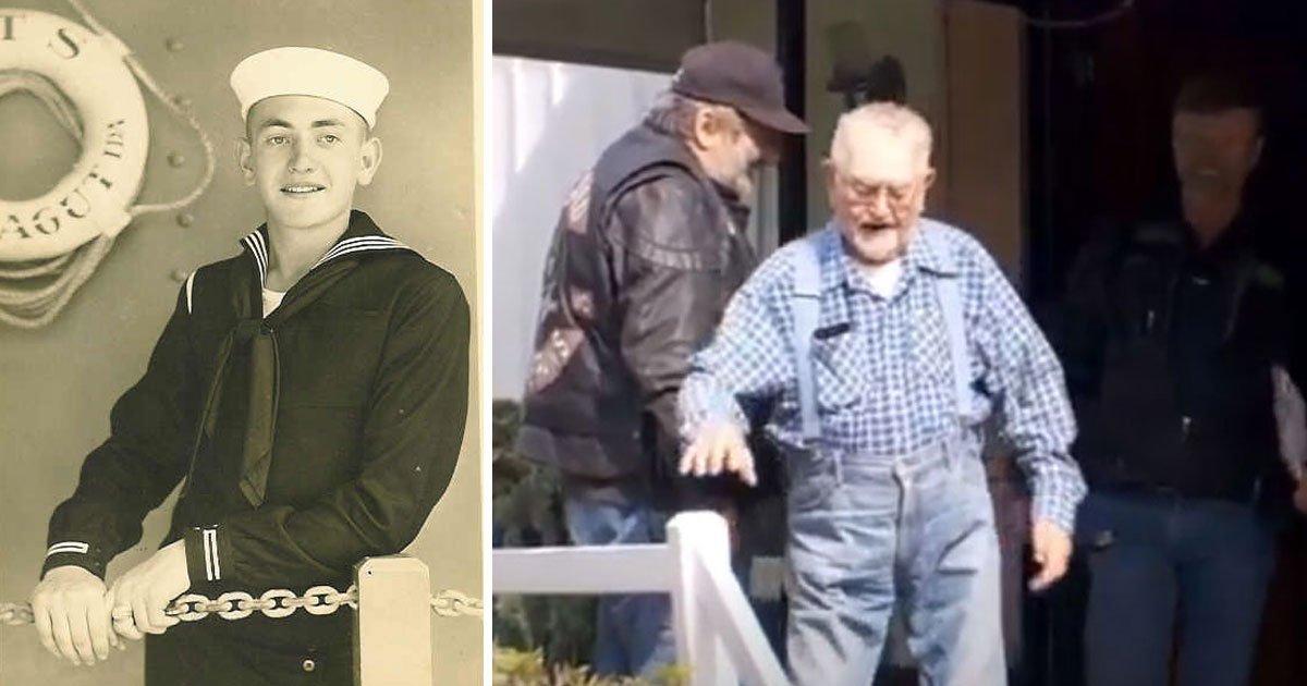 veteran fix roof volunteers.jpg?resize=1200,630 - Motorcycle Club Volunteers Stepped In To Help 93-Year-Old World War II Veteran