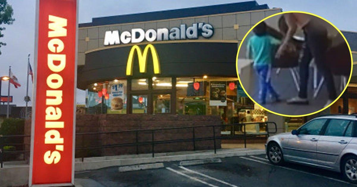 woman kidnapped boy mcdonads.jpg?resize=412,232 - Une femme qui a tenté d'enlever un petit garçon  âgé de quatre ans chez McDonald's a été arrêtée