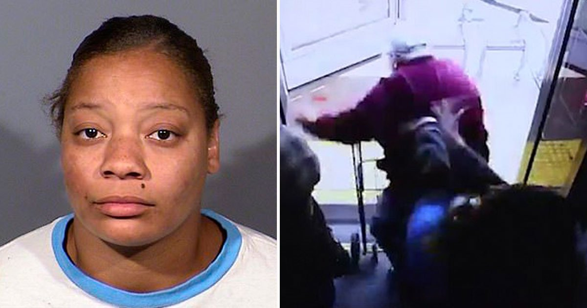 woman pushed man off bus.jpg?resize=412,275 - Footage Of Woman Pushing A 74-Year-Old Man Off A Bus Has Been Released - The Woman Is Now Facing Murder Charges