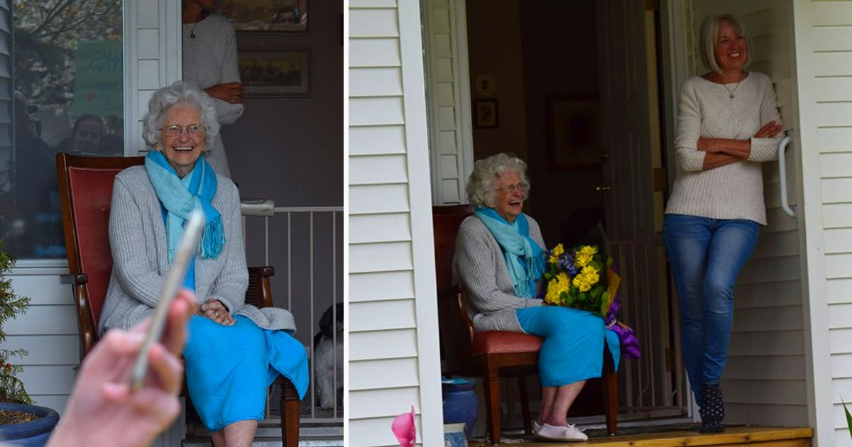 woman waves students surprise.jpg?resize=412,232 - Elderly Woman Waved To Students On Their Way To School - Then One Day More Than 400 Students Showed Up At Her Doorstep