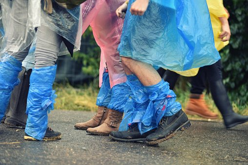 """""""I was at a typical British festival. The sun was shining, but the forecast said rain. I didn't want to carry around a jacket with me all day, but I also didn't want to get soaked if it rained. So I decided to pop a bin liner in my back pocket, which I could later fashion into a makeshift poncho. Lo and behold, the rain came down later that afternoon. But I was able to keep dry in my DIY poncho. It's also durable enough that you can reuse the same bin liner for a couple days."""" —Ben"""
