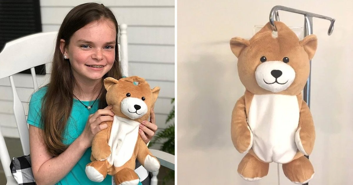 1200x630 dfadf.jpg?resize=412,232 - 12 Years Old Girl Invented 'Medi Teddy'  To Help Children Be Less Intimidated By IV Bags