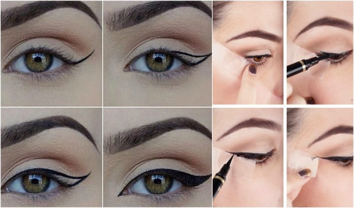 delineado de cat eye
