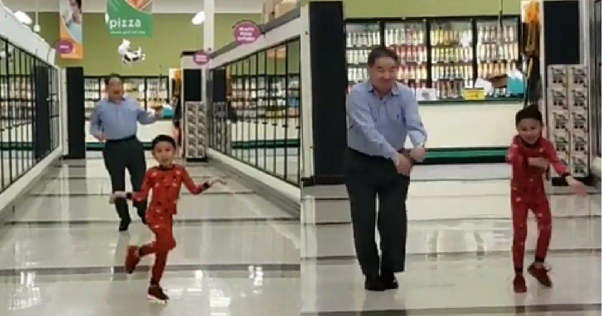 2 157.jpg?resize=1200,630 - 인터넷 뜨겁게 달군 할아버지와 '5살' 손자가 마트에서 신나게 춤추게 된 사연 (영상)