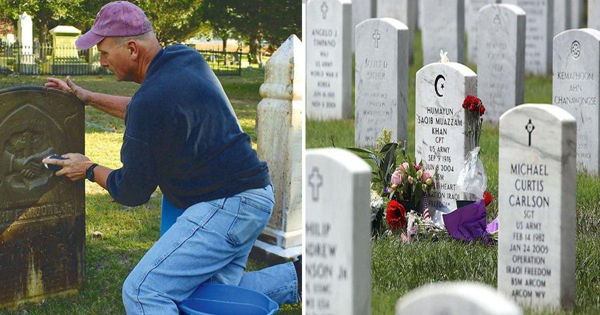2 194.jpg?resize=412,232 - Ce facteur de 60 ans passe ses dimanches à restaurer les pierres tombales de vétérans de guerre