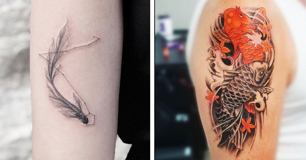 2 302.jpg?resize=1200,630 - 15 Diseños de pez koi en tatuajes para las personas fuertes que buscan el éxito