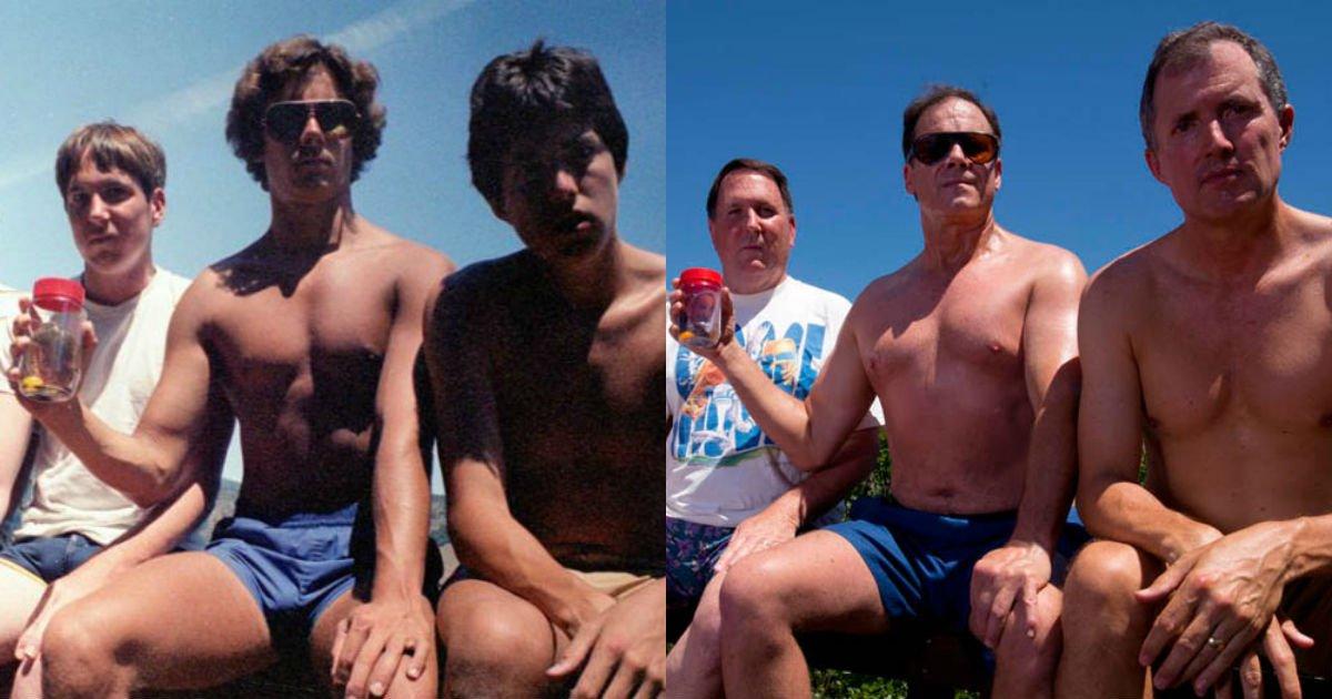"""2017.jpg?resize=412,232 - """"30년 동안 지킨 약속""""... '5년' 마다 같은 포즈로 '우정 사진' 찍는 다섯친구"""